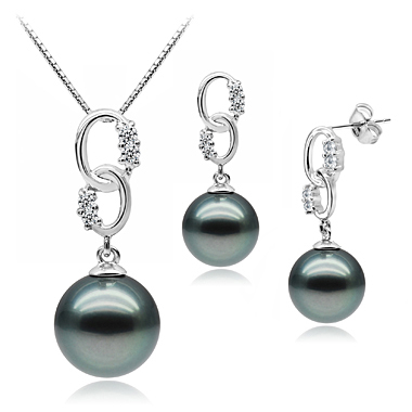 High Quality Black Pearl Jewelry Set Bridal Jewelry Pearl Sets Mother Of Pearl Jewelry Wholesale