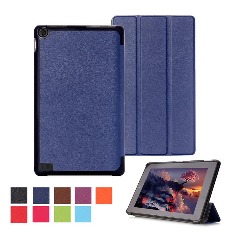 Magnet clap PU Leather cover case for Amazon kindle fire 7 hd case Newest 2015 tablet 7 inch protective skin free shipp+Gift