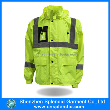 mens winter high visibility reflective motorcycle jacket