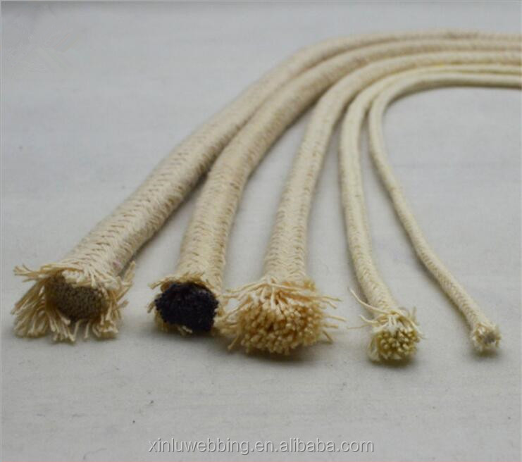 Handmade factory 2mm-6mm thick and thin cotton core rope