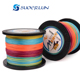 New brand 500M PE braided fishing line 8 strands lure braided multi color super strong anti-bite line