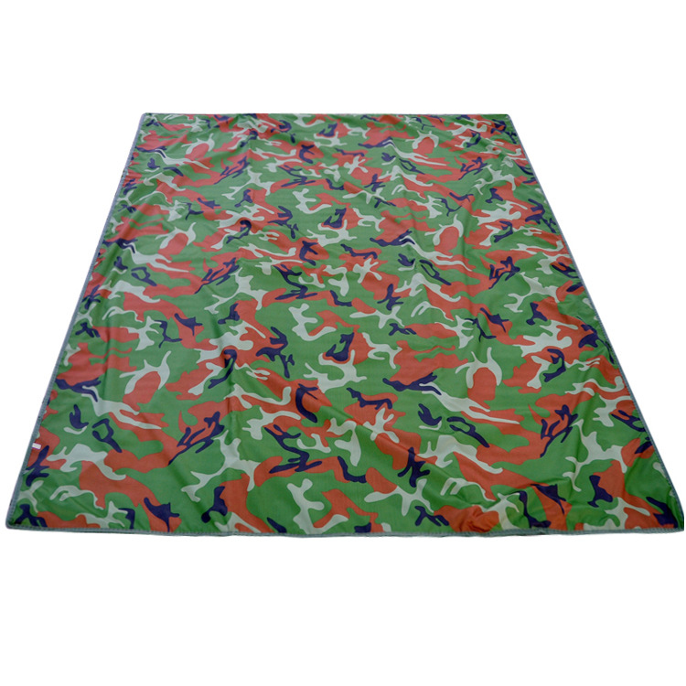 Outdoor Waterproof Camouflage Picnic Aluminum Foil Mat for Beach Camping Travel Hiking