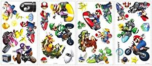 New Nintendo Mario Kart Wii 34 Big Wall Decals Game Room Decorations Stickers Decor