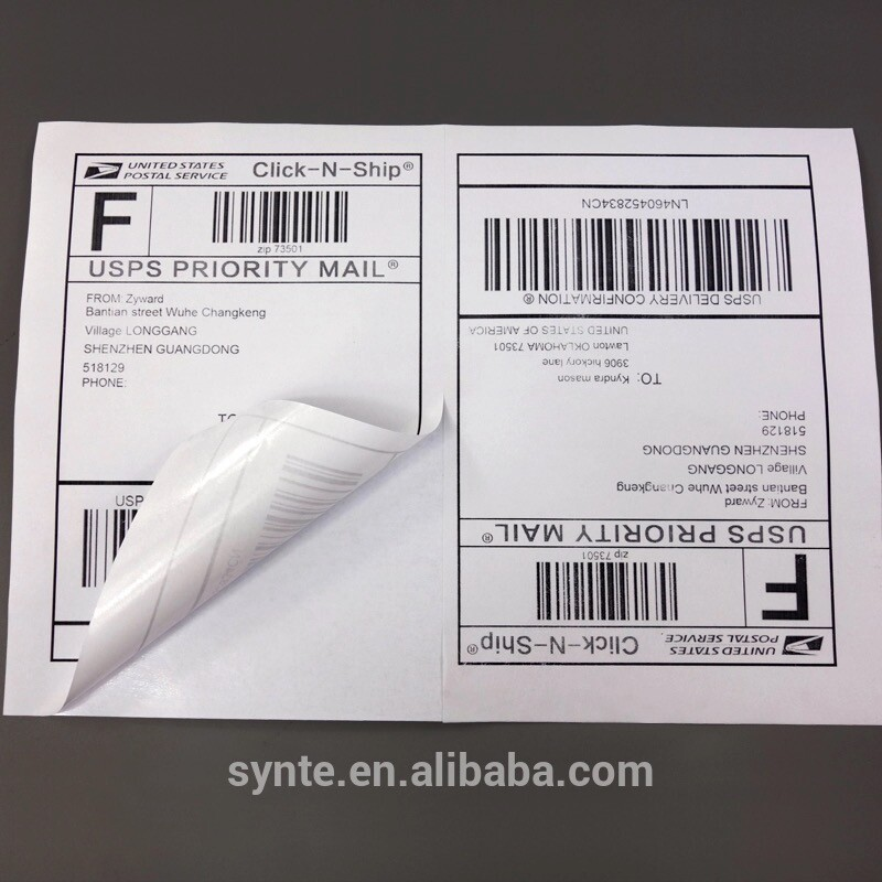 GL-02 50 sheets 100 stickers A4 Shipping label half sheets self adhesive A5 label Amazon/Ebay/UPS/<strong>FEDEX</strong>/DHL
