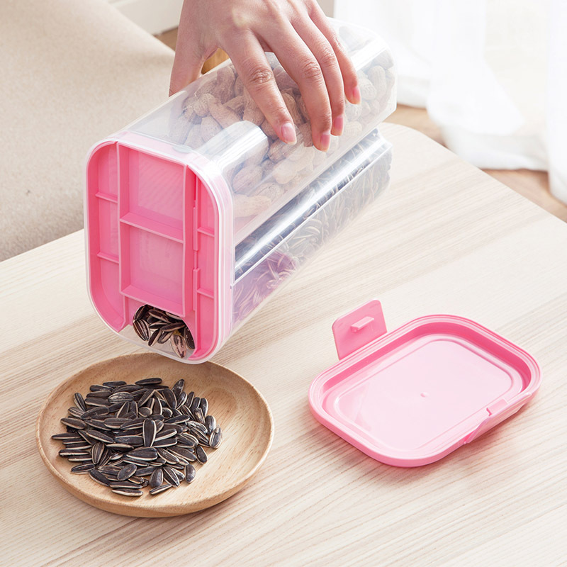 Kitchen pop container set air tight dry food container good grade grain cereals storage box for sale