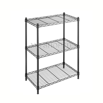 Household wire shelving systems grid shelf black