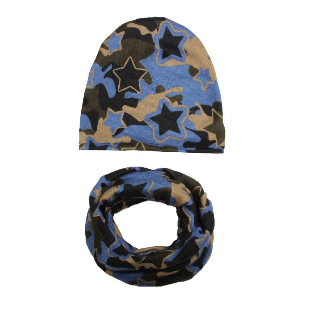 Jshuang UnisexAutumn Winter Baby Hat Girl Boy Cap Children Hats Toddler Kids Hat Scarf Collars (Camouflage F)