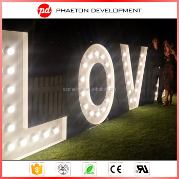 new hot sale 3d led vintage marquee letters for sale