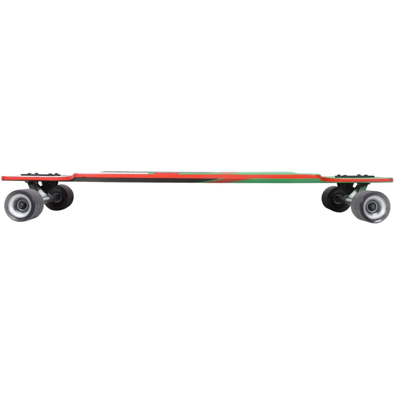 "Globe Geminon 38 Complete Longboard -10x38.5"" Green/Red/Black/Grey"