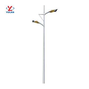 Double Sided Steel Street Light Pole, Double Sided Steel