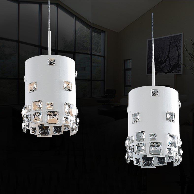 moderne kleine kristallen witte kroonluchter hanglamp voor eetkamer ...