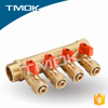 brass ball valve of y-pattern manifold brass forge manifold for floor heating