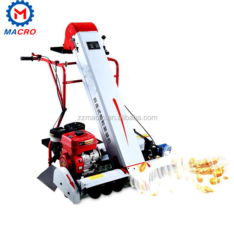 Walking Type Gasoline Corn Grain Collecting And Bagging Machine With Hand Push