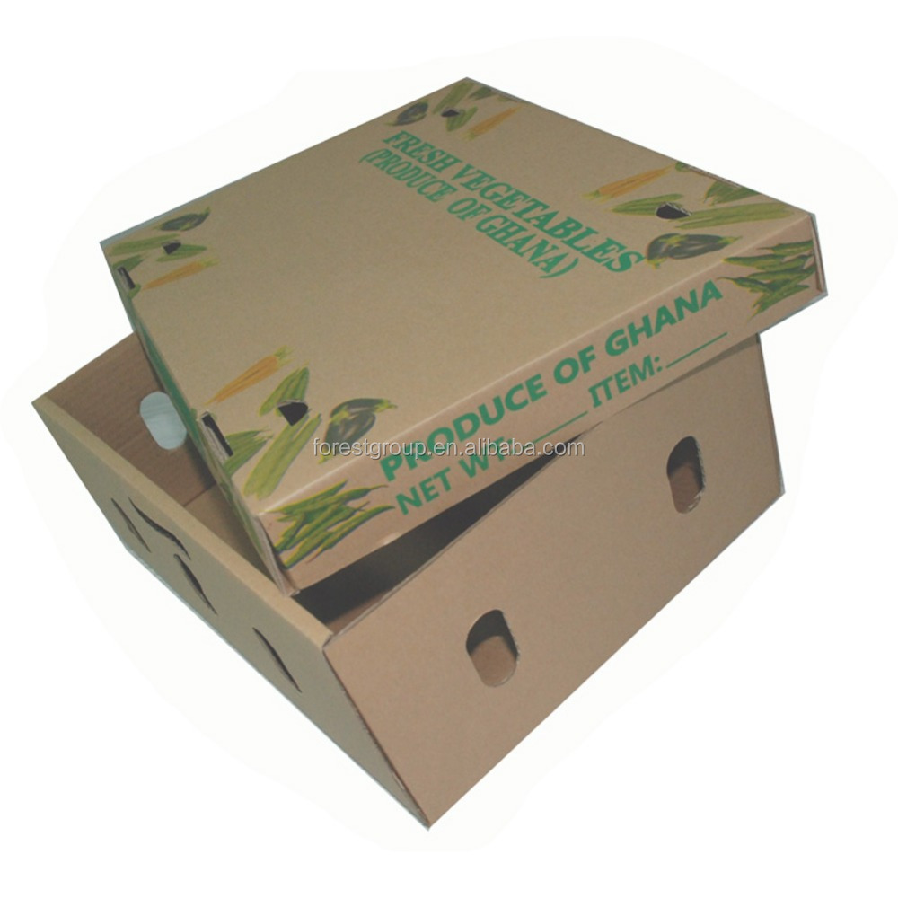 CUSTOM CARDBOARD CARTON BOX PRICE FOR FRUIT PACKING WITH LIDS