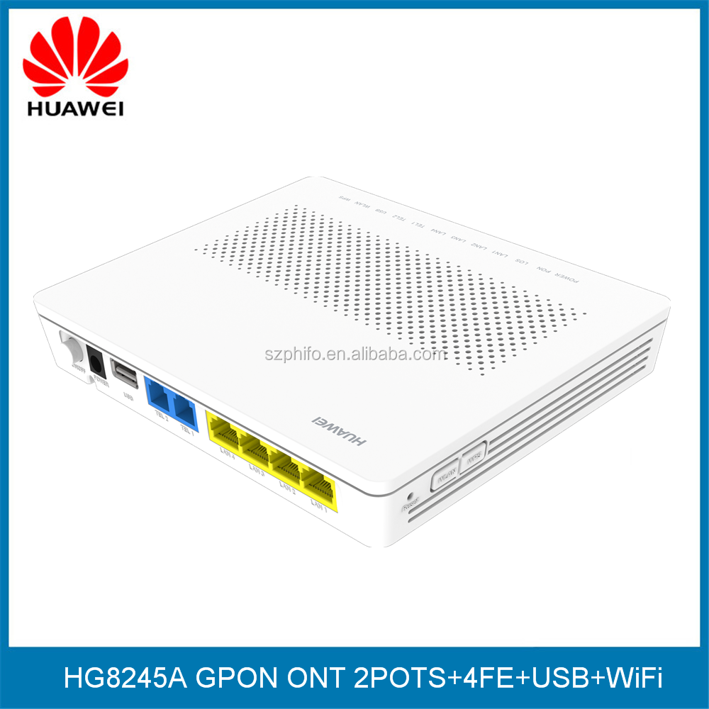 Huawei HG8245A wireless Epon Terminal with 4 ethernet ports, H.248 & SIP double protocol, english version