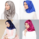 Factory Direct Wholesale Fashionable Silk Square Hijab No Wrinkle Scarf