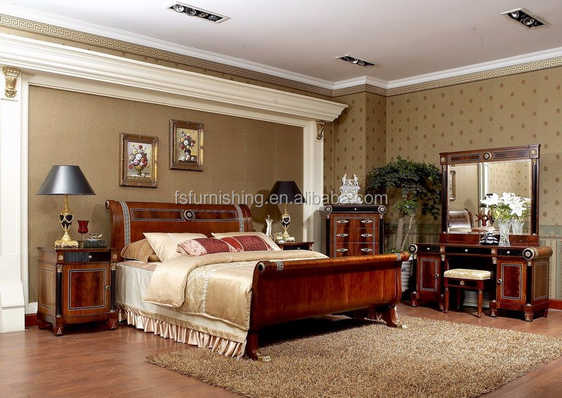 YB10 Royal luxury Italy king size master solid wood bedroom ...