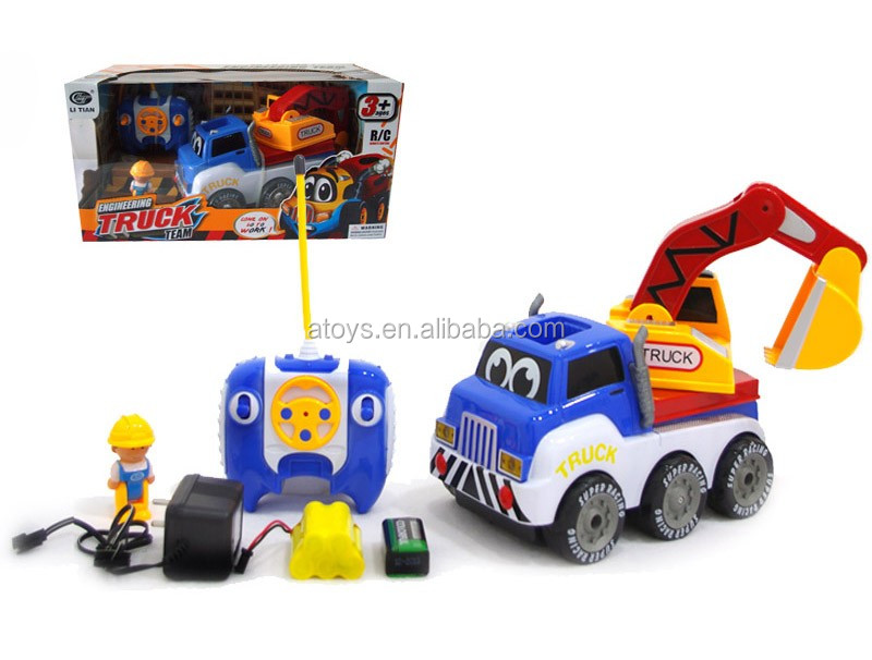 4 Channel Rc Cartoon 4wd Tractor 4wd Truck 4wd Toy Car Tractor 4wd