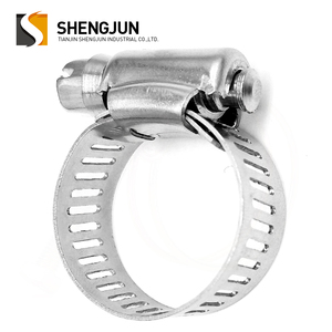 Spring action american style taiwan hose clamp with key for automotive