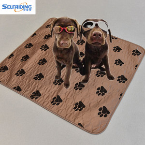 Heavy Absorbency Dog Puppy Training Wee Pee Pads Supplies, Reusable Pet Pad, Washable Dog Mat
