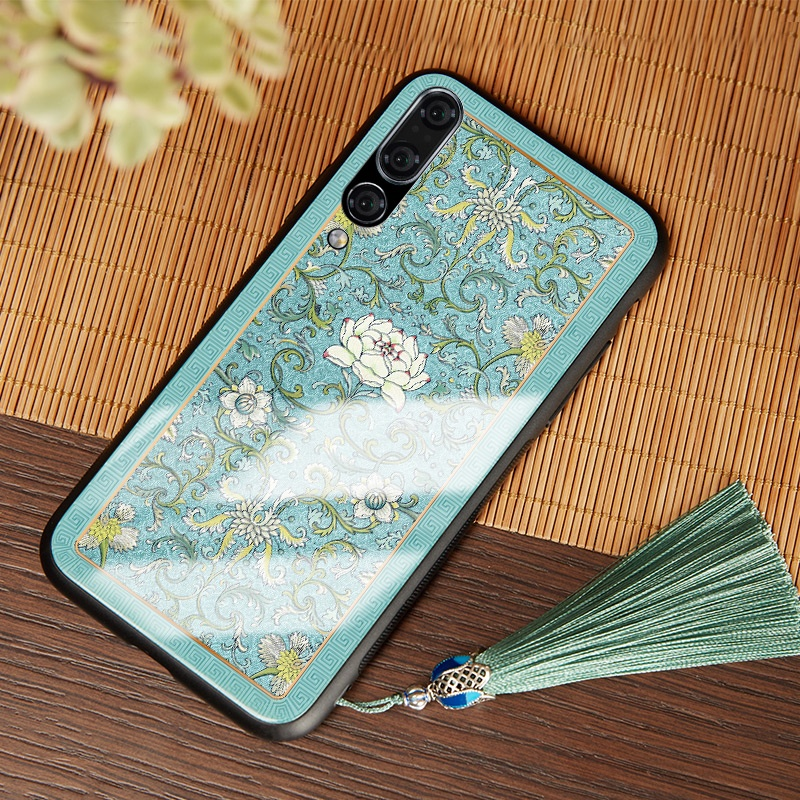 Luxus Ultra Thin Durable Exquisite 3D Farbe Carving Gehärtetem Glas Telefon Fall Abdeckung für Huawei P30/P30 pro/ p20