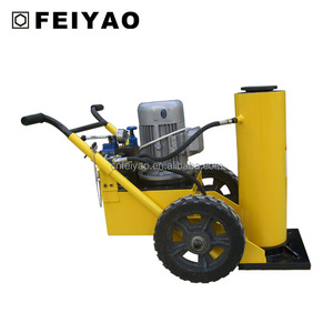 Portable pow'r-riser hydraulic vehicle lifting jacks