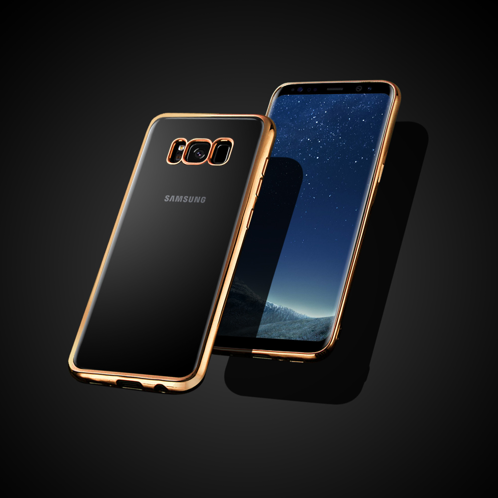 High quality cell phone accessories tpu bumper case for s8 silicone case, for galaxy s8 electroplating clear case