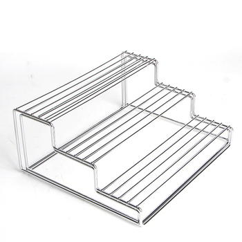 Extended Stainless Steel 3 Tier Cabinet Spice Rack Kitchen Step Shelf  Organizer  Chrome