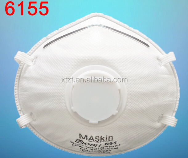 NIOSH N95 face mask with valve white color