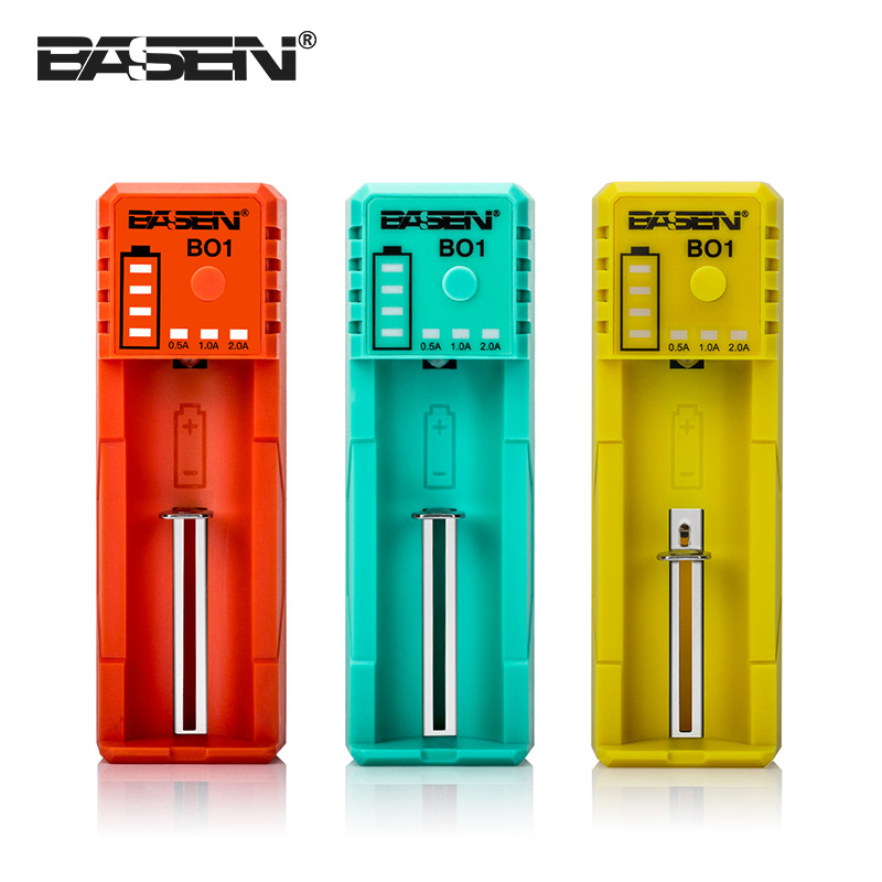 Basen BO1 Micro port USB li ion battery charger single slot 2A input charger for vape cig & electronic cigarette for sale