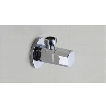 bathroom accessories chrome bathroom parts square filling valves brass water stop valve angle valve