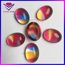 Lovely Cabochon Oval Shape Synthetic Wholesale Glass Gems