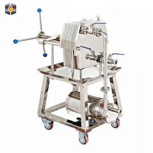 Cooking Oil Filter Food Grade Filter Press Plate And Frame Oil Filter Press for sunflower oil