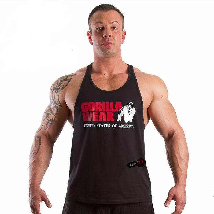 60369dd3b1b41 Superman bodybuilding stringer tank tops!GYM shark cotton vest O-neck  gymshark print Tank top for men 2015 brand famous gymshark