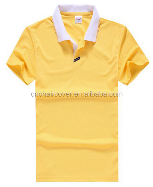 white t shirt yellow collar