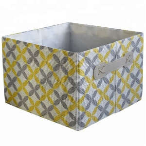 Eco Paper Drawer Storage Cube Box Basket Bin Foldable