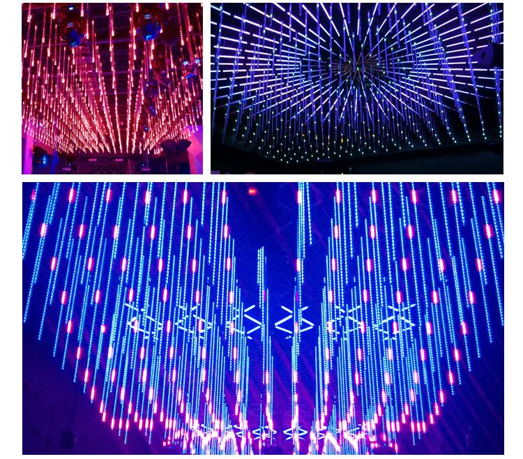 LED shooting star rgb tube night club lights snow falling led christmas  lights - Led Shooting Star Rgb Tube Night Club Lights Snow Falling Led