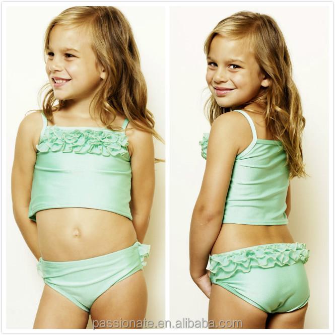 f90d7b750 ثوب السباحة الخضراء لطيف الصيف الحار، ملابس الطفل، الفتيات ملابس السباحة  للأطفال