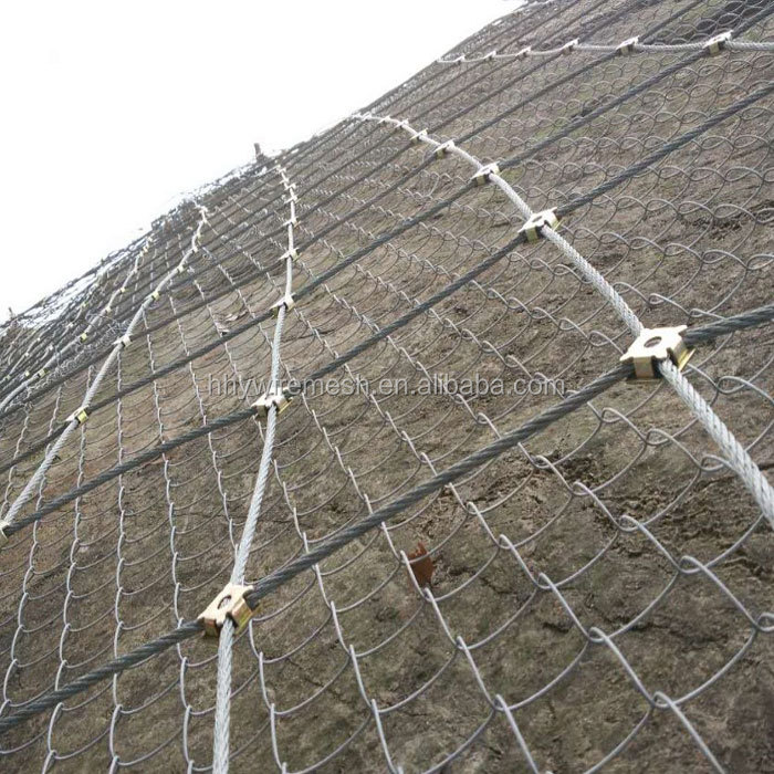 SNS rope netting slope protection netting rock fall wire rope net rockfall netting