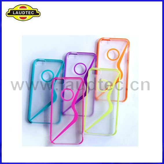 2012 Latest, Curved S Line Transparent Hard TPU Case Cover for Apple iPhone 5 5G S 5th,Fast delivery,high quaity----Laudtec