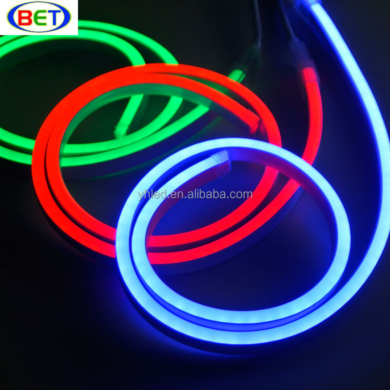 latest item high voltage 16*9mm width IP66 5050 rgb led neon rope light