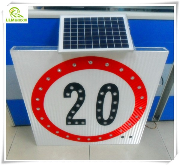 Factory wholesale high quality IP 67 led solar warning sign