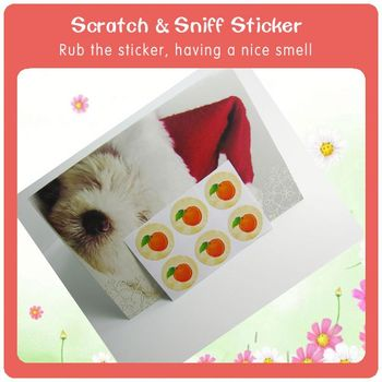 how to make scented stickers