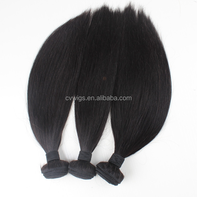 wholesale natural color silky straight remy Brazilian human hair weft