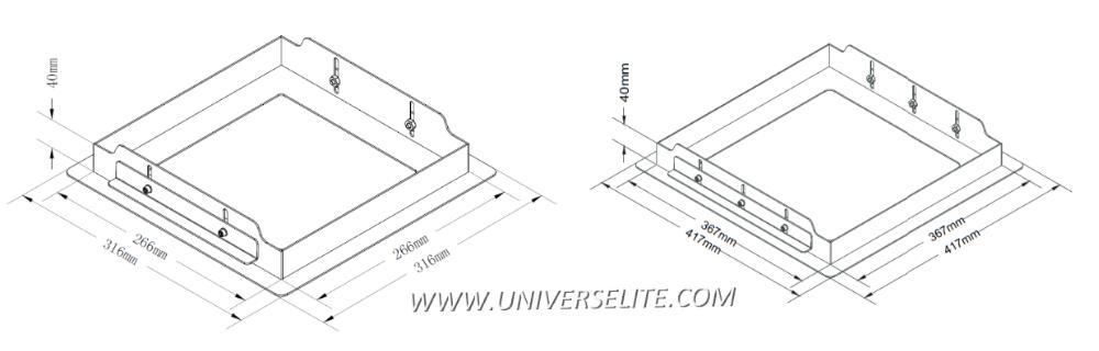 Ip65 Waterproof Led Canopy Gas Station Light Recessed Lighting Ul