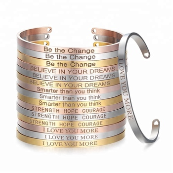 2019 Personalized Custom Bangles Inspirational Quotes BraceletS for Iron Man I Love You Three Thousand Times