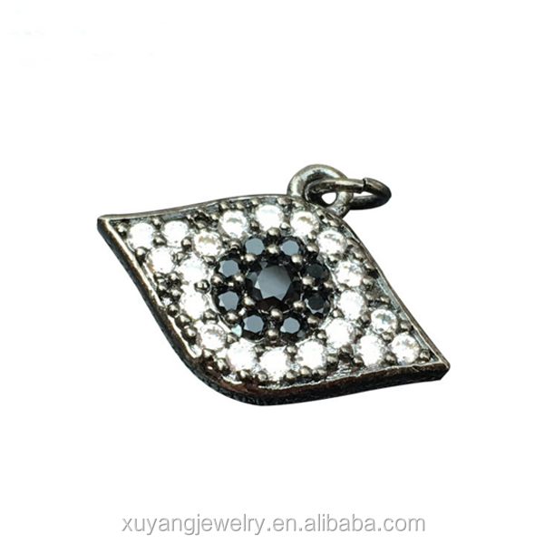 Latest high quality cz micro pave evil eye charm for DIY jewelry making (CP004)
