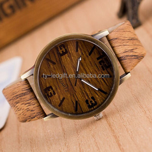 Factory selling new Fashion Casual quartz Watch Popular Style wood quartz watches