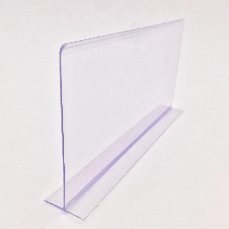 Herstellung Supermarkt POP Kunststoff Klar T form PVC Regal Teiler Für regal Waren
