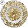 Custom made wholesale gold elegant cheap dinner glass charger plate